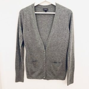 Express Cardigan Sweater with Jeweled Buttons
